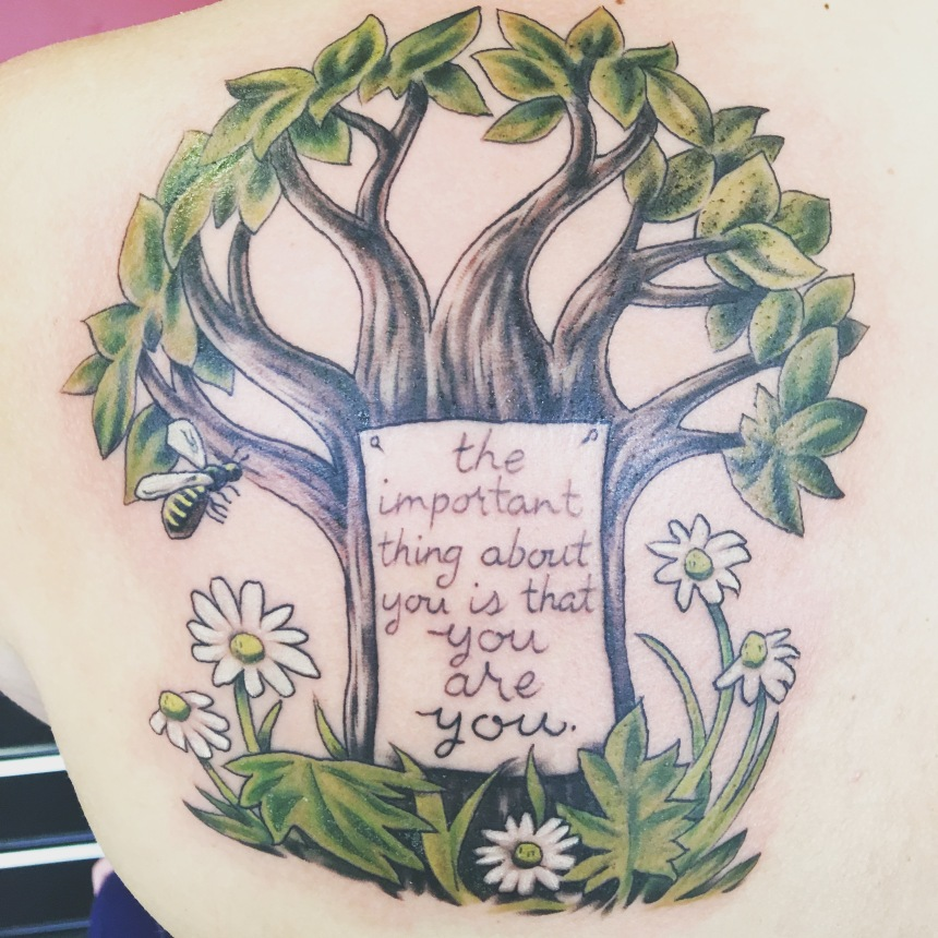 Tattoo from Erin Ruiz. Artwork inspired by Leonard Weisgard.